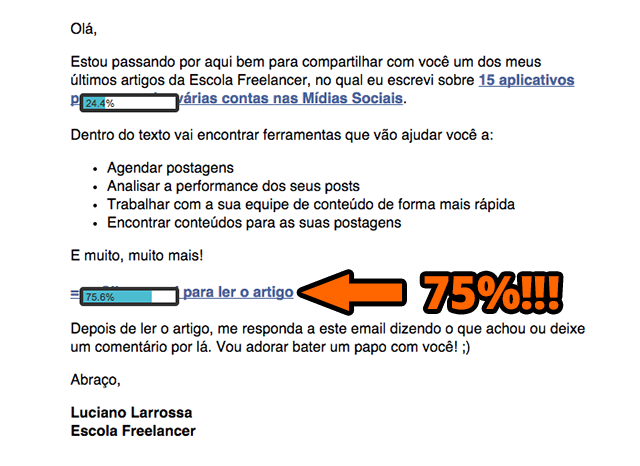 Resultados do email marketing