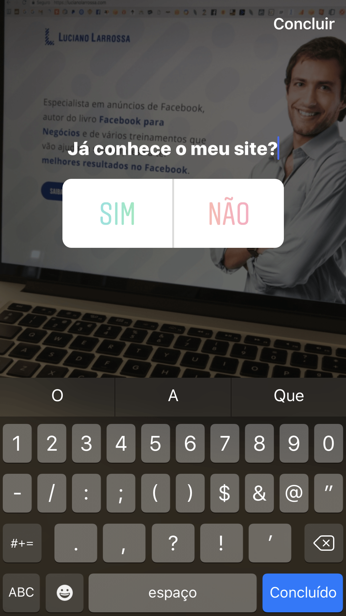 enquete instagram tutorial