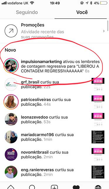 como usar contador regressivo no stories lembrete