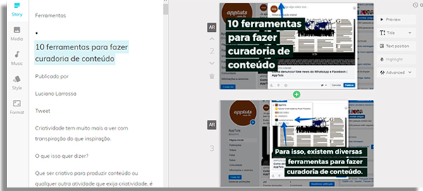 ferramentas de marketing lumen5